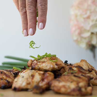 grilled asian chicken thighs, eat heal thrive, emily's fresh kitchen,