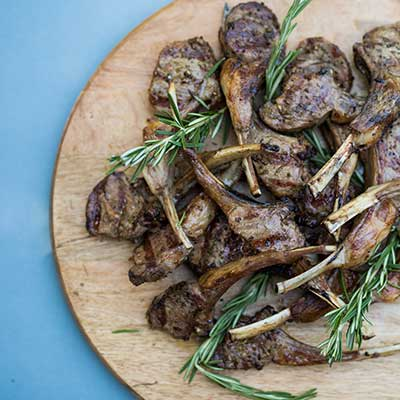 emily's fresh kitchen, eat heal thrive, lamb, lamb lollipops, grilled lamb