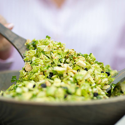 emily's fresh kitchen, shaved Brussels sprouts salad